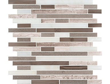Arctic Storm Interlocking Honed Mosaic Tile 12 in. x 12 in. Marble Floor and Wall Tile $13.78/ sq. ft (10 sq. ft / case), , large