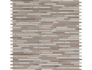 Arctic Storm Bamboo Pattern Mosaic 11.61 in x 12 in. Marble Floor and Wall Tile $17.48/ sq. ft (9.6 sq. ft / case), , large