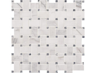 Calacatta Cressa Basketweave Honed Mosaic 12 in. x 12 in. Marble Floor and Wall Tile $13.78/ sq. ft (10 sq. ft / case), , large