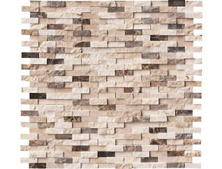 Emperador Blend Splitface Pattern 11.93 in. x 12.09 in. Marble Wall Tile $18.48/ sq. ft (10 sq. ft / case), , large