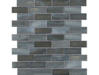 Oceano Brick Interlocking Mosaic 12 in. x 12 in. Glass Wall Tile $13.78/ sq. ft (15 sq. ft / case), , large