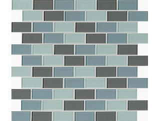Majestic Ocean Brick 12 in. x 12 in. x 4 mm Glass Wall Tile $5.98/ sq. ft (20 sq. ft / case), , large