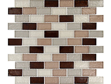 Ayres Blend Mosaic 12 in. x 12 in. Glass Wall Tile $13.78/ sq. ft (10 sq. ft / case), , large