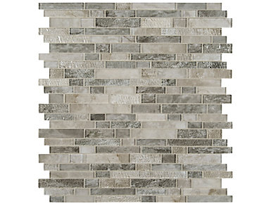 Savoy Interlocking Pattern 11.73 in. x 12.83 in. Glass Wall Tile $16.48/ sq. ft (10.4 sq. ft / case), , large