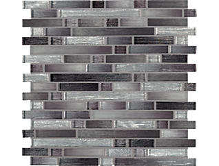 Akaya Nero Interlocking 11.75 in. x 12 in. Glass Wall Tile $17.48/ sq. ft (9.8 sq. ft / case), , large