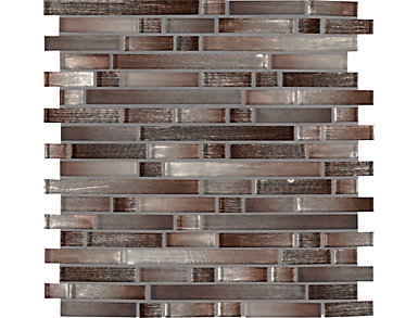 Akaya Copper Interlocking 11.75 in. x 12 in. Glass Wall Tile $17.48/ sq. ft (9.8 sq. ft / case), , large