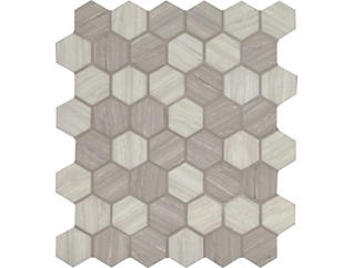 Silva Oak Hexagon Mosaic 11.02 in. x 12.75 in. Glass Wall Tile $14.48/ sq. ft (14.7 sq. ft / case), , large