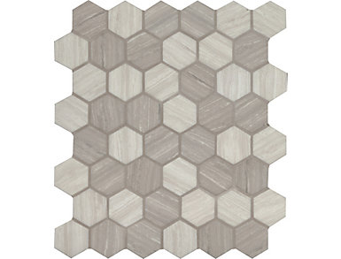 Silva Oak Hexagon Mosaic 11 02 In X 12 75 Gl Wall Tile 14 48 Sq Ft 7 Case