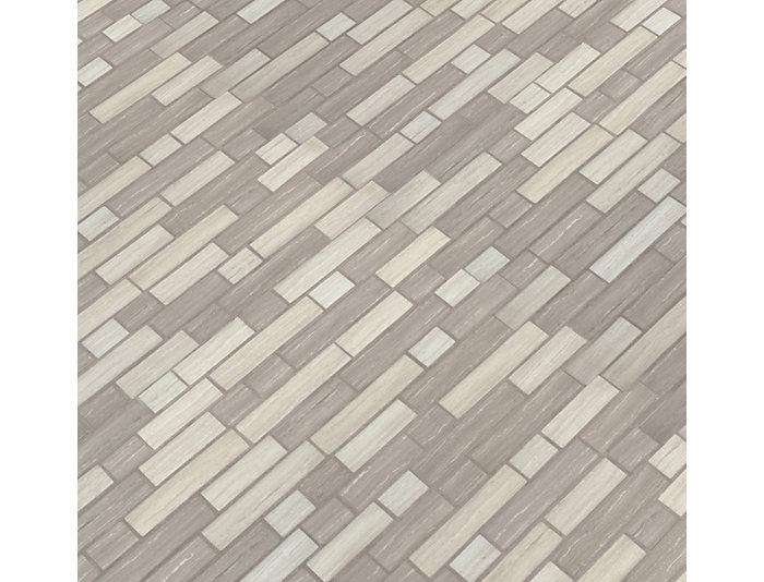 Silva Oak Interlocking Pattern 11.81 in. x 11.81 in. Glass Wall Tile $14.48/ sq. ft (14.55 sq. ft / case), , large