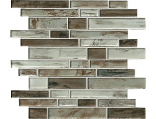 Sterling Interlocking Pattern Mosaic 11.81 in. x 11.81 in. x 8 mm Glass Wall Tile $17.48/ sq. ft (9.7 sq. ft / case), , large