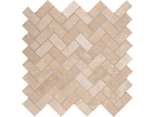 Tuscany Ivory Herringbone Honed Mosaic 12 in. x 12 in. Travertine Wall Tile $12.98/ sq. ft (10 sq. ft / case), , large