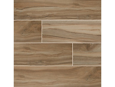 Aspenwood Amber 9 in. x 48 in. Porcelain Floor and Wall Tile $4.98/ sq. ft (12 sq. ft / case), , large