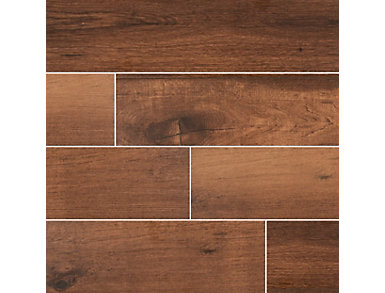 Palmetto Chestnut 8 in. x 36 in. Porcelain Floor and Wall Tile $4.88/ sq. ft (15 sq. ft / case), , large