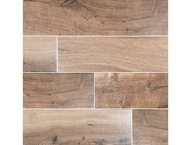 Palmetto Cognac 8 in. x 36 in. Porcelain Floor and Wall Tile $4.88/ sq. ft (15 sq. ft / case), , large
