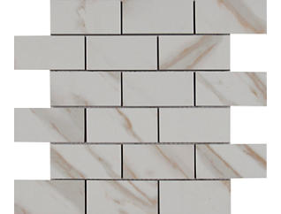 Calacatta Ivory Mosaic Tile 12 in. x 12 in. Porcelain Floor and Wall Tile $9.38/ sq. ft (8 sq. ft / case), , large