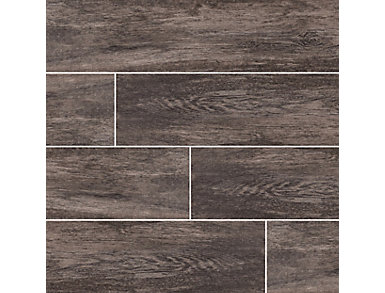 Upscape Nero 8 in. x 40 in. Porcelain Floor and Wall Tile $5.78/ sq. ft (13.33 sq. ft / case), , large