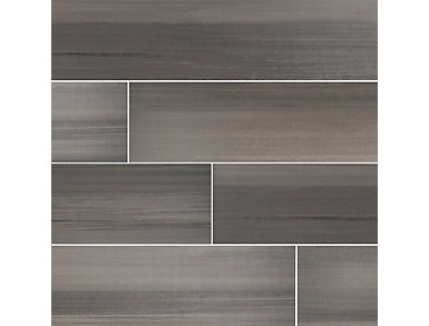 Watercolor Graphite 8 in. x 36 in. Porcelain Floor and Wall Tile $5.28/ sq. ft (13.5 sq. ft / case), , large