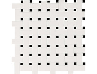 White and Black Basketweave Matte Mosaic 11.81 in. x 11.81 in. Porcelain Floor and Wall Tile $7.98/ sq. ft (20 sq. ft / case), , large