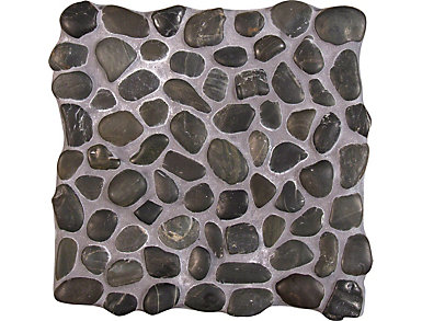 Black Marble Pebbles Tumbled Pattern Mosaic 11.42 in. x 11.42 in. x 10mm Marble Floor and Wall Tile $10.98/ sq. ft (9.1 sq. ft / case), , large