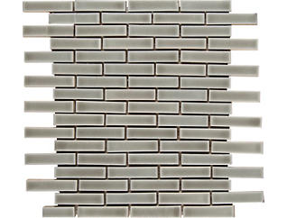 Dove Gray Brick Pattern Mosaic 12 in. x 12 in. Ceramic Floor and Wall Tile $12.98/ sq. ft (10 sq. ft / case), , large