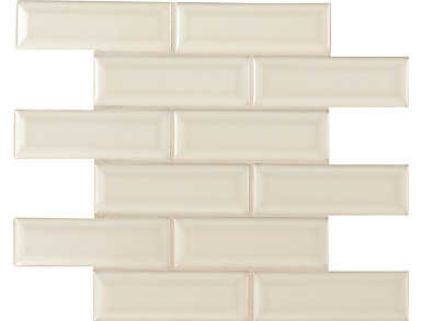 Antique White Beveled 12 in. x 12 in. Porcelain and Ceramic Wall Tile $14.48/ sq. ft (10 sq. ft / case), , large