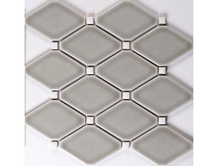 Dove Gray Diamond Mosaic 12.28 in. x 12.8 in. Ceramic Floor and Wall Tile $16.58/ sq. ft (10.9 sq. ft / case), , large