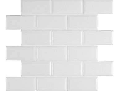 Frost Subway Beveled Mosaic 11.21 in. x 11.47 in. Ceramic Wall Tile $5.98/ sq. ft (13.41 sq. ft / case), , large