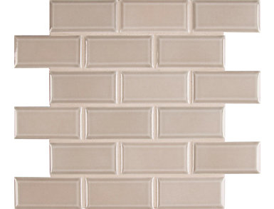 Smoke Beveled Mosaic 11.21 in. x 11.47 in. Ceramic Wall Tile $5.98/ sq. ft (13.41 sq. ft / case), , large