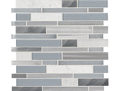 Harlow Interlocking Mosaic 12 in. x 12 in. Glass/Stone/Metal Wall Tile $19.98/ sq. ft (10 sq. ft / case), , large