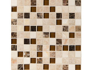 Ibiza Blend Mosaic 12 in. x 12 in. Glass Floor and Wall Tile $14.68/ sq. ft (10 sq. ft / case), , large
