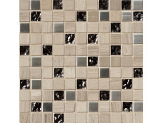 Castle Rock Mosaic 12 in. x 12 in. Glass/Stone/Metal Floor and Wall Tile $12.98/ sq. ft (10 sq. ft / case), , large