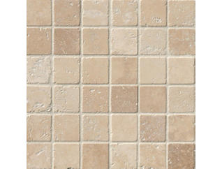 Tuscany Chiaro Classic Tumbled in in Mesh 12 in. x 12 in. Travertine Floor and Wall Tile $9.48/ sq. ft (10 sq. ft / case), , large