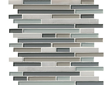 Keystone Blend Interlocking Pattern 12 in. x 12 in. Glass/Stone Wall Tile $14.68/ sq. ft (10 sq. ft / case), , large