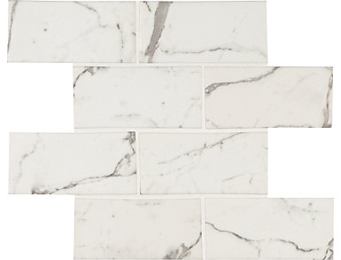 Statuario Celano 11.6 in. x 11.61 in. Glass Wall Tile $14.48/ sq. ft (9.4 sq. ft / case), , large