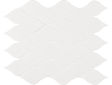 White Tear Drop Glossy Mosaic 10.62 in. x 11.1 in. Porcelain Floor and Wall Tile $9.48/ sq. ft (16.39 sq. ft / case), , large
