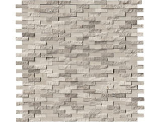 White Oak Splitface Pattern Mosaic 11.93 in. x 12.09 in. x 10 mm Marble Wall Tile $16.58/ sq. ft (10 sq. ft / case), , large
