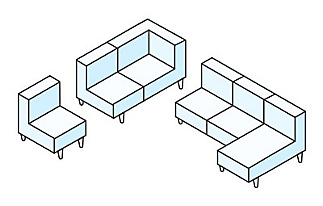 Modular sectional diagram