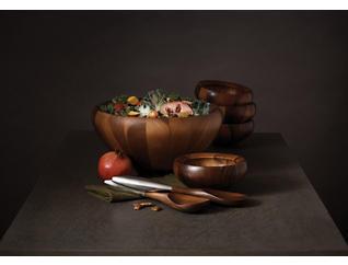 Nambe Yaro Salad Bowl/Servers, , large