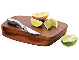 Nambe Blend Bar Board w/Knife, , large