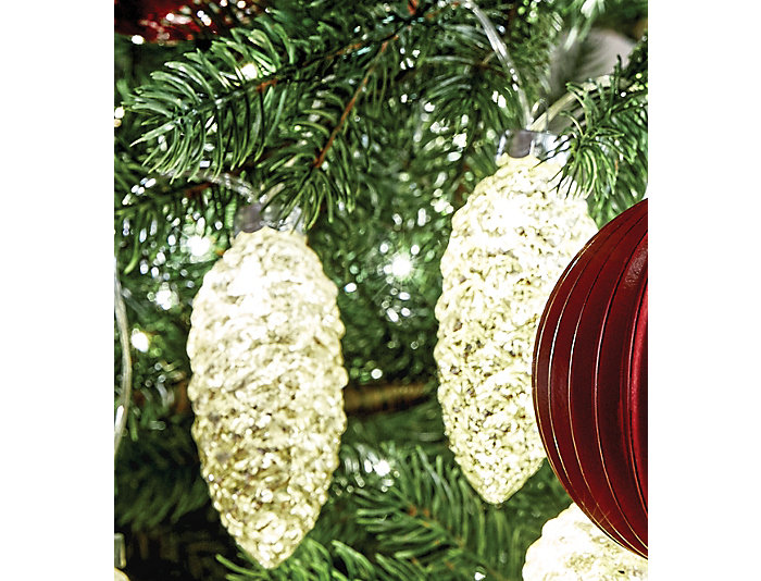 Glass Pine Cone String Lights, , large