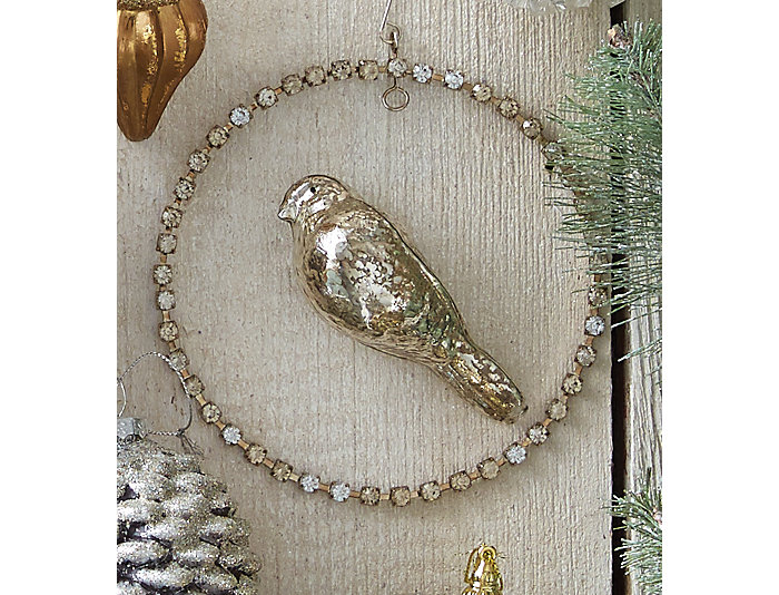 Glass Bird Jeweled Wreath, , large