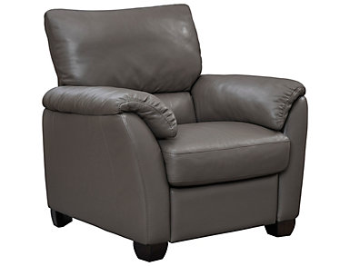 Natuzzi B693 Power Leather Recliner, Taupe, , large