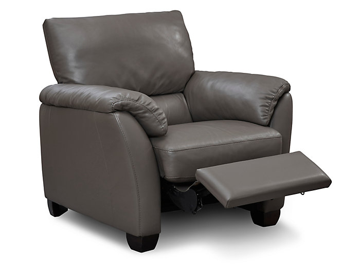 Natuzzi B693 Leather Recliner Taupe Large