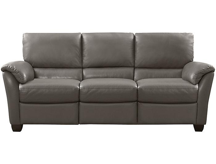 Natuzzi B693 Power Leather Sofa, Taupe, , large