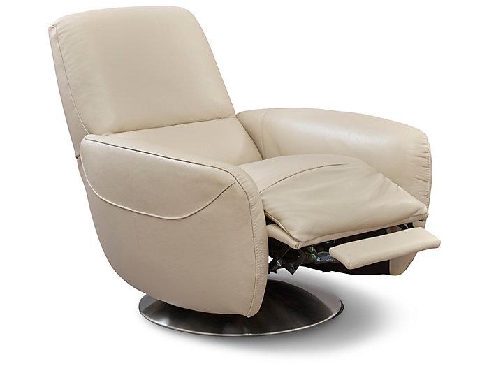 Natuzzi B769 Swivel Press Back Chair, Beige, , large