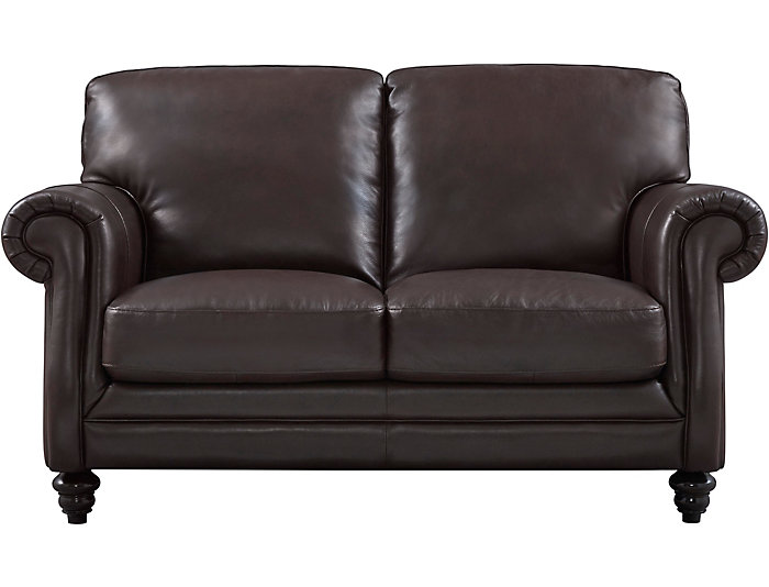 Brilliant B868 Brown Leather Loveseat Gmtry Best Dining Table And Chair Ideas Images Gmtryco