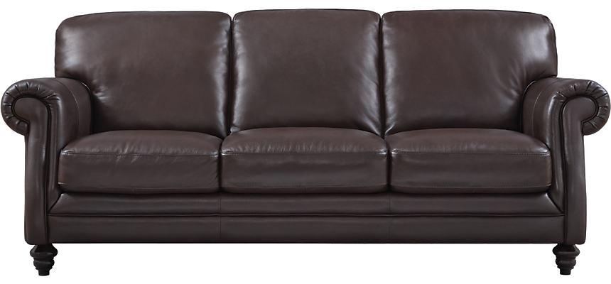 B868 Brown Leather Sofa