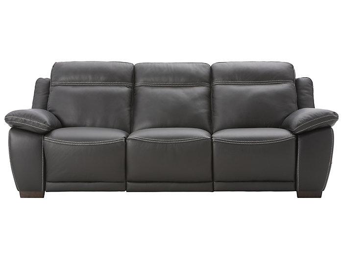 Natuzzi B875 Reclining Leather Sofa Black Large