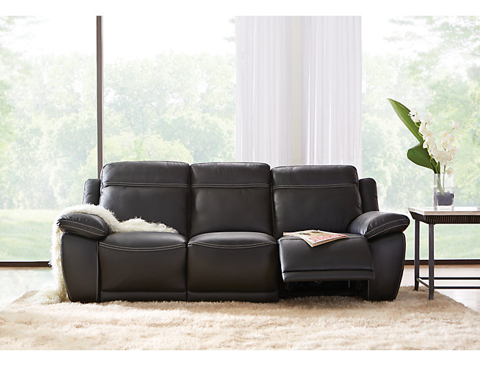 B875 Reclining Leather Sofa, , large