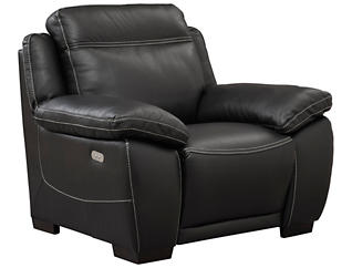 B875 Power Leather Recliner, , large